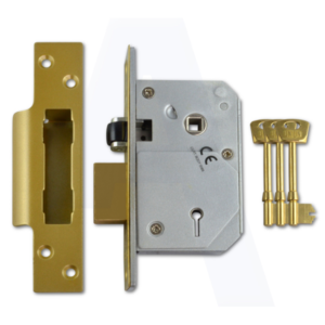 Union C-Series 5 Lever Mortice Sash Lock in brass