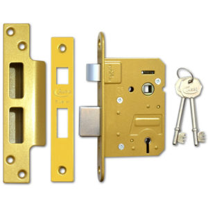 ASEC BS 5 Lever Sashlock in brass