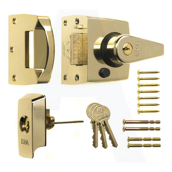 Era B.S night latch in brass